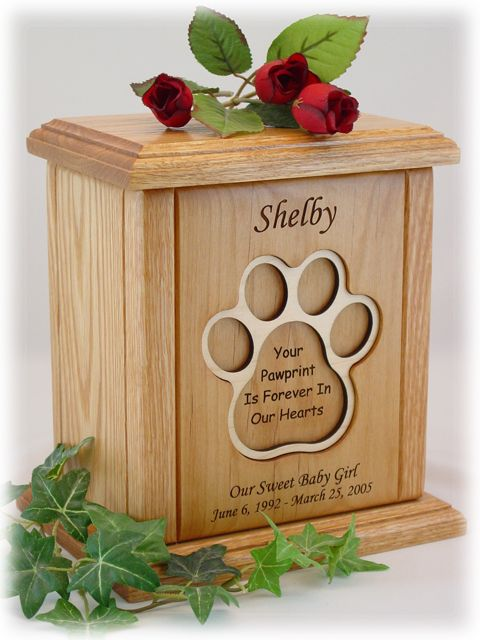 Classic Series Pawprint Pet Urn Sizing Information