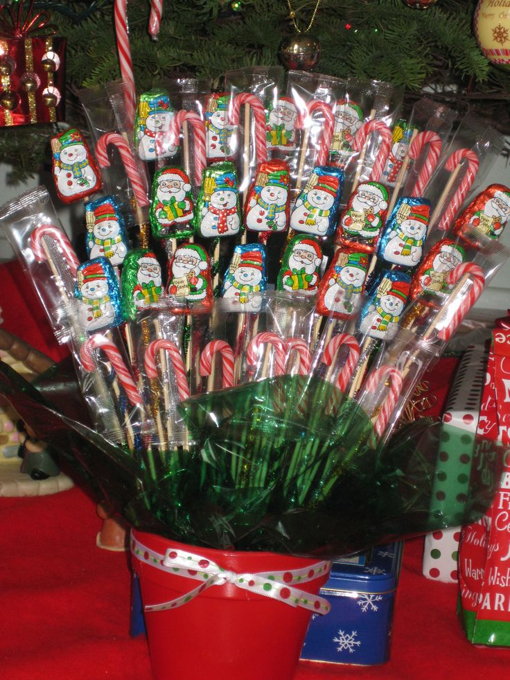 Christmas candy bouquet party ideas pinterest