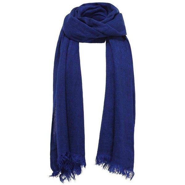 Yoins Wrap Scarf featuring polyvore, fashion, accessories, scarves, blue, scarves & shawls, wrap shawl, blue scarves, wrap scarves and blue shawl