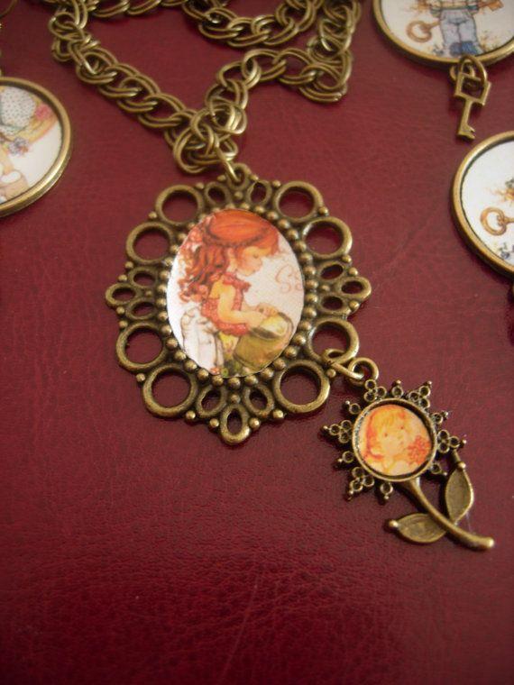 Retro Vintage 70's Sarah Kay necklace by eltsamp on Etsy, $38.00