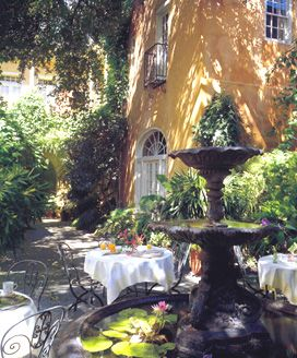 Soniat House New Orleans  -- spent our honeymoon here.  Maybe a ceremony in the courtyard?