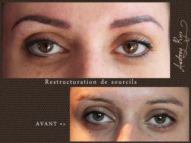 Maquillage permanent sourcils ombrage naturel Toulouse