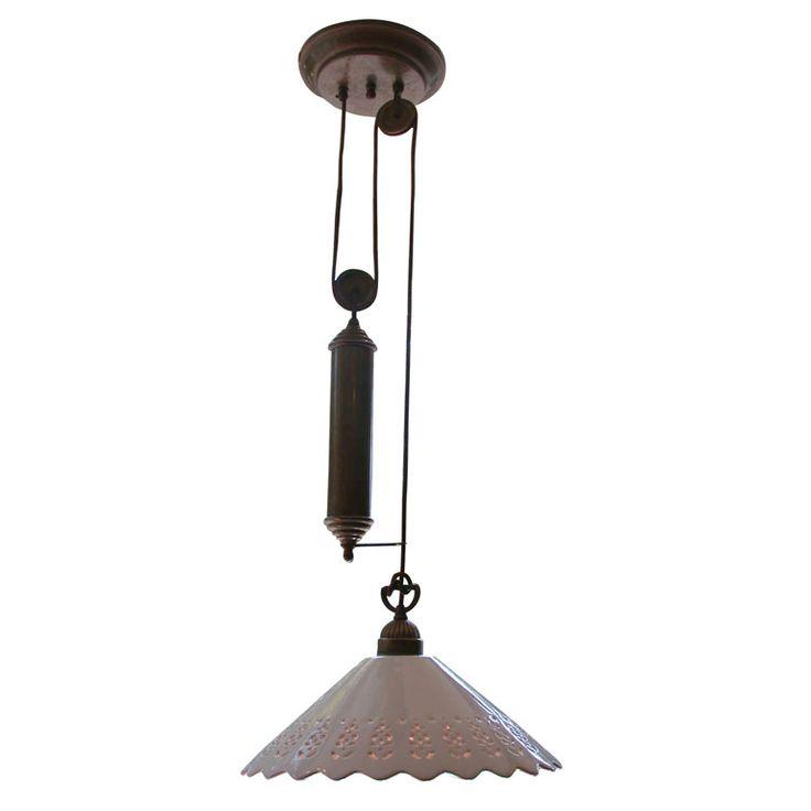 pendant light fixture with brass pulley pendants pendant light. Black Bedroom Furniture Sets. Home Design Ideas