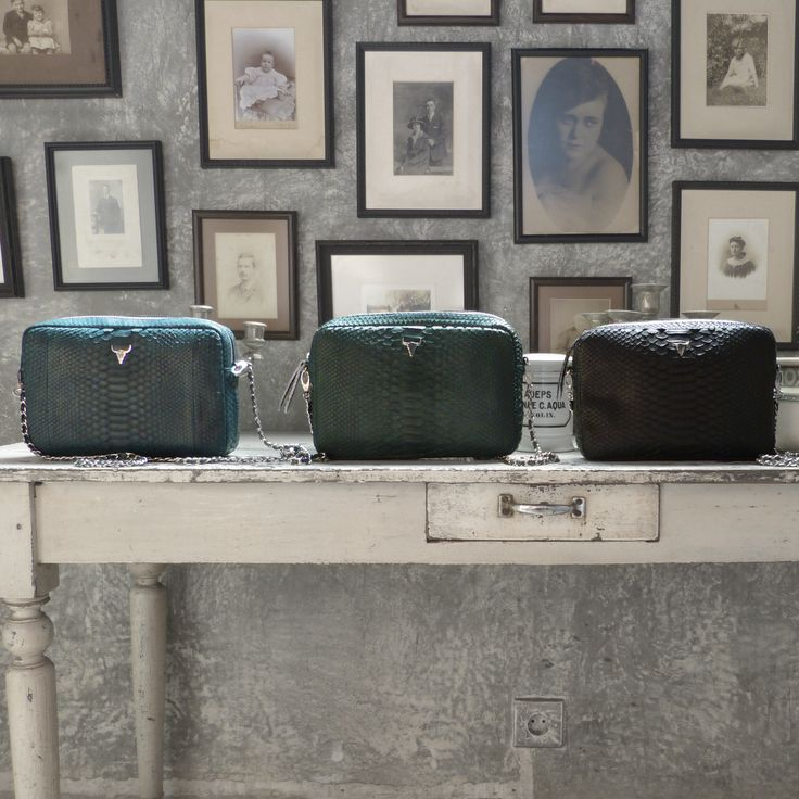Our NEW GIULIA bag in color GREY / GREEN and BLACK, the new timeless in limited edition and handmade