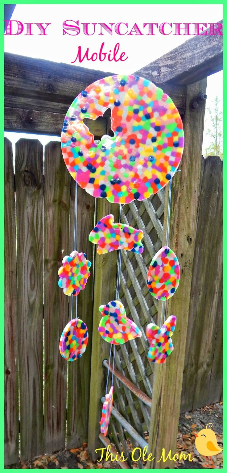 DIY Melted Bead Sun Catcher Mobile...gift idea