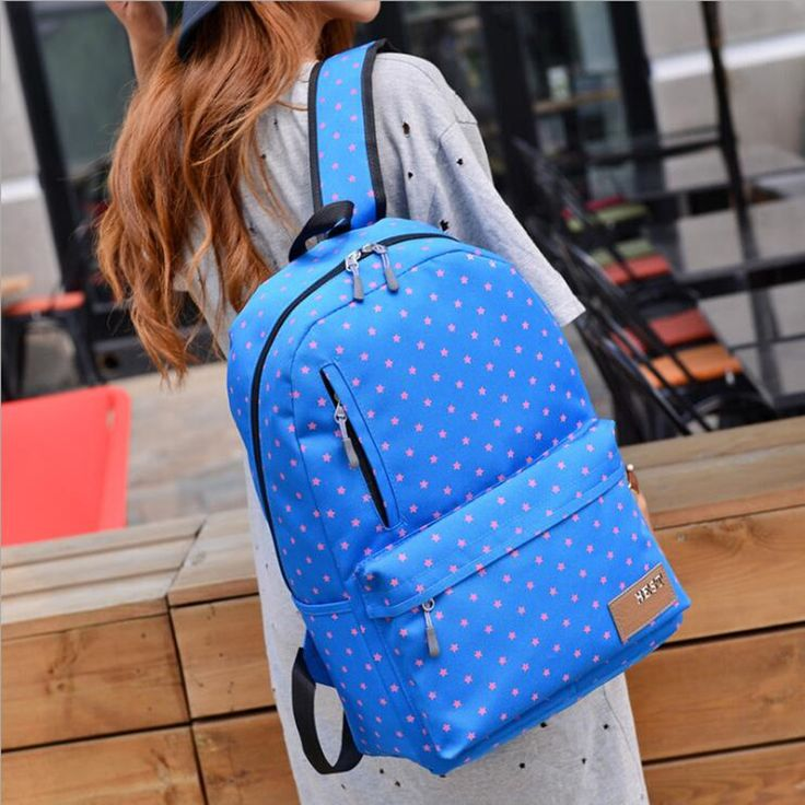 2017 New Women Pentagram Printing Backpack College Wind Youth Fashion Backpack Large Capacity Schoolbags