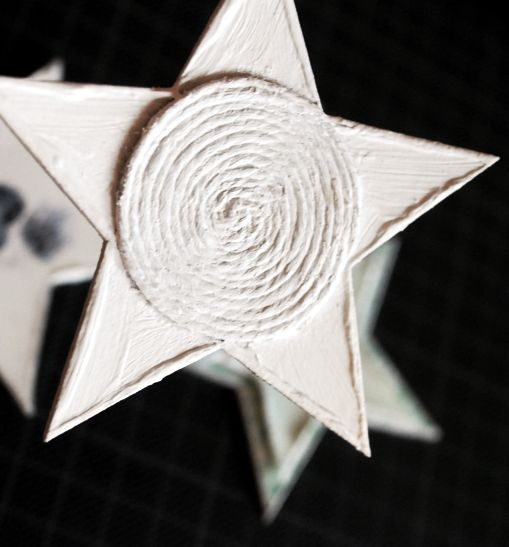 Chipboard star decorate with twine.