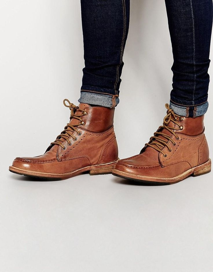 Shop Frank Wright Angel Leather Boots at ASOS.