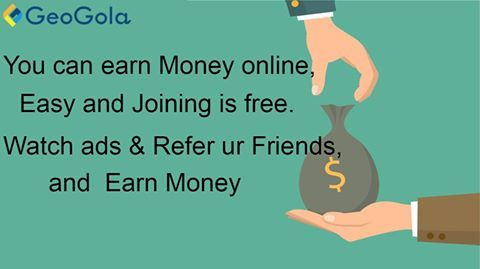 #‎Geogola #‎Earning #‎MobileApp by #‎watchingAds &Refer ur Friends   To Install Click Link .https://play.google.com/store/apps/details?id=com.geogola&hl=en&utm_term=Mobile+app
