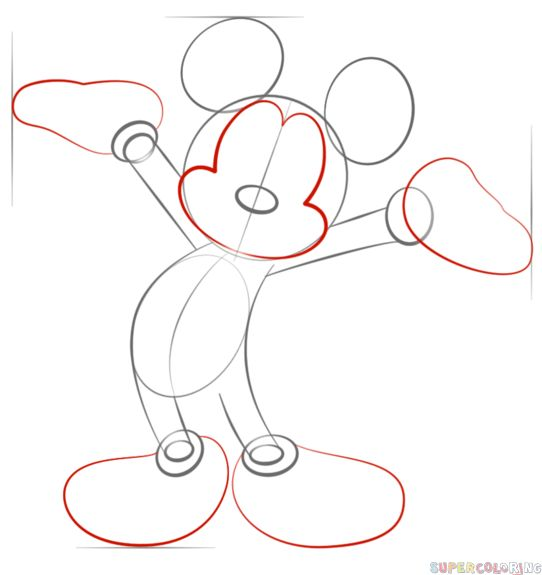 25 best ideas about mickey mouse drawings on pinterest
