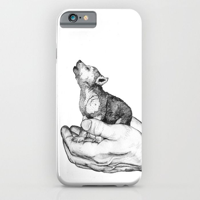 20% Off + Free Shipping on Phone Cases Today! Wolf Cub // Graphite iPhone 6 7 & Samsung Galaxy S8 S7 Case by Sandra Dieckmann | Society6