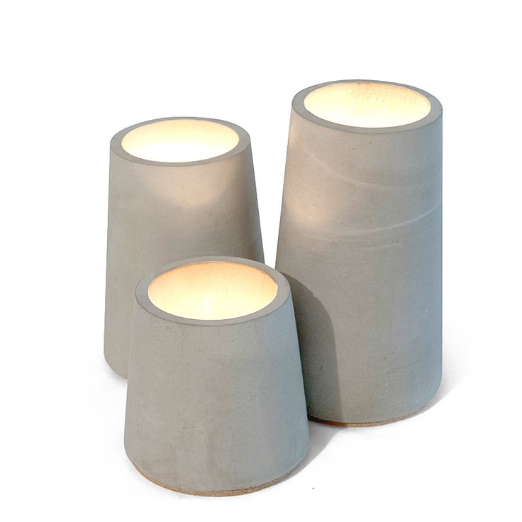 top3 by design - Bradmade - Concrete mandle holder silos 3pc