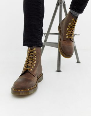 7b285f538bffb Dr Martens 1460 8-eye boots in brown in 2019 | NYC Closet | Brown dr ...