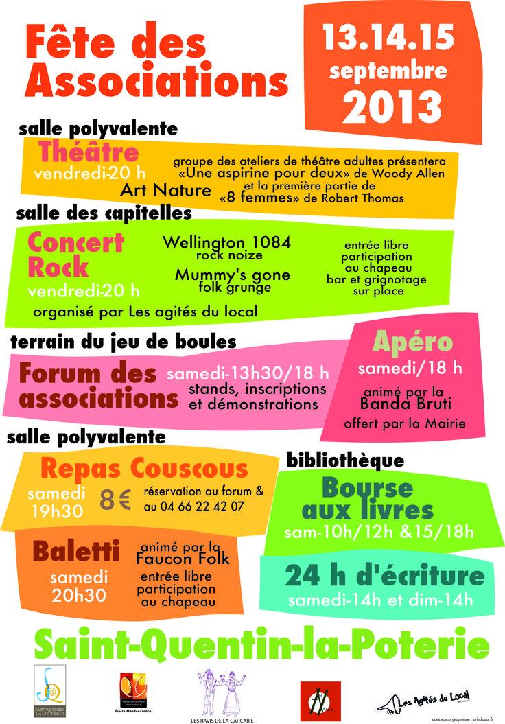 Fête des Associations Saint-Quentin-la-Poterie