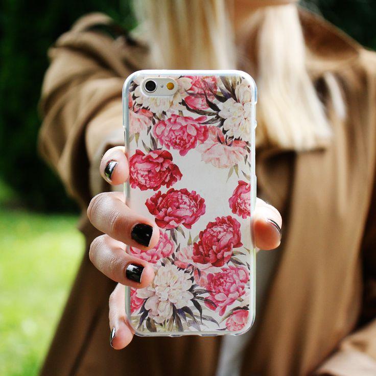 Kwiatowe etui na telefon / więcej na www.etuo.pl