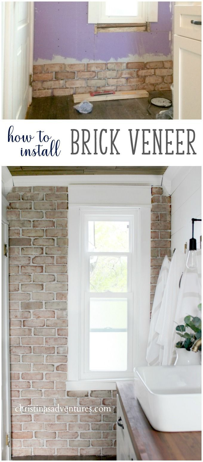 Everything you need to know about how to install brick veneer - a DIY tutorial, cost, where to buy it, etc.