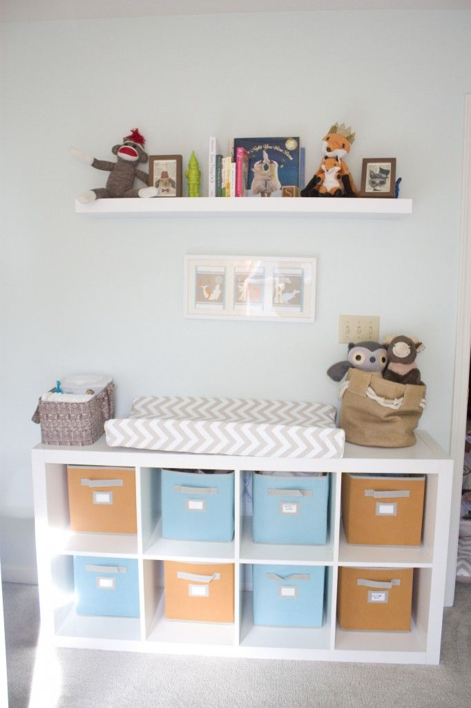 @IKEA USA Expedit as a changing table - so smart! Plus, it allows for so much storage. #nursery: Nurseries, Baby Room, Contour Cover, Baby Kinderkamer, Changing Tables