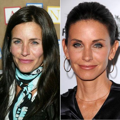 Courtney Cox before and after pictures