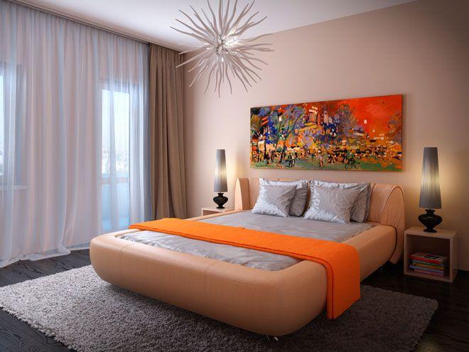 Интерьер спальни - Квартира в Перми для семейной пары с дочкой 4 лет в скандинавском стиле