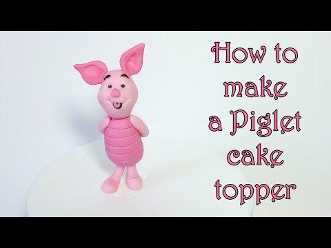 Fondant cake toppers #4: Fondant Piglet tutorial - CakesDecor