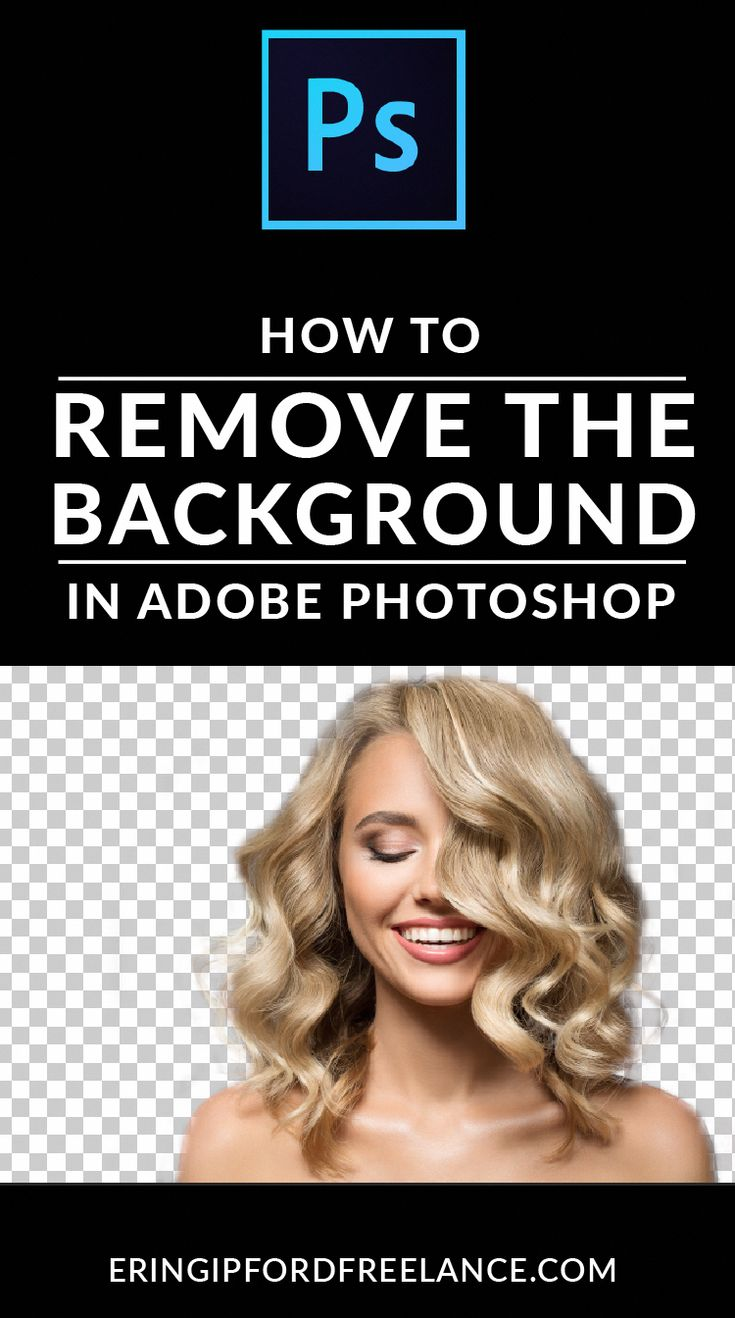 Learn how to remove the background of a photo with hair in