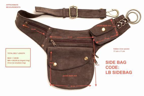 Leather Utility Belt Travel Belt Utility Belt Brown, Pocket Belt Leather