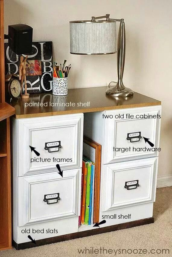 Upcycle file cabinet, easy redo from FB