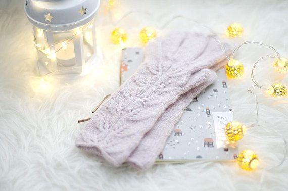 Knit gloves Women knitted gloves Wool gloves Hand knit gloves