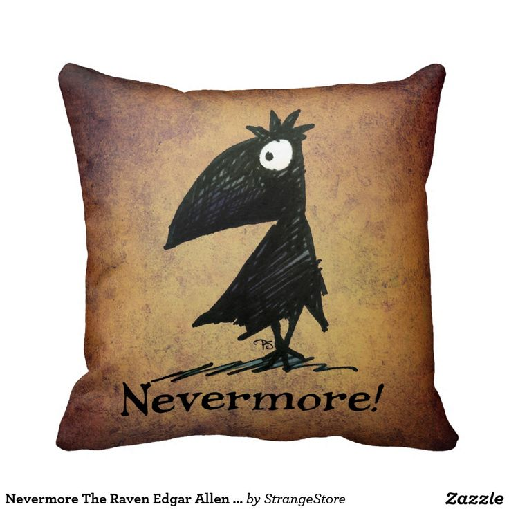 Nevermore The Raven Edgar Allen Poe Gothic Pillows from #StrangeStore