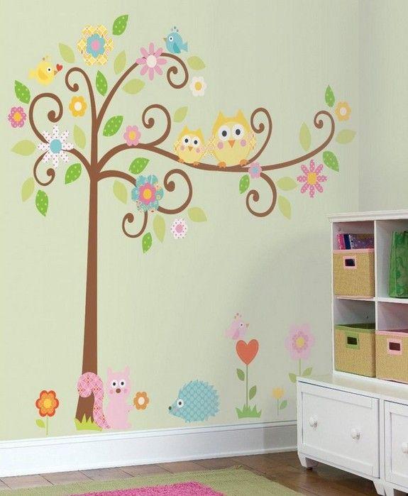 Идеи декора стен в детской комнате