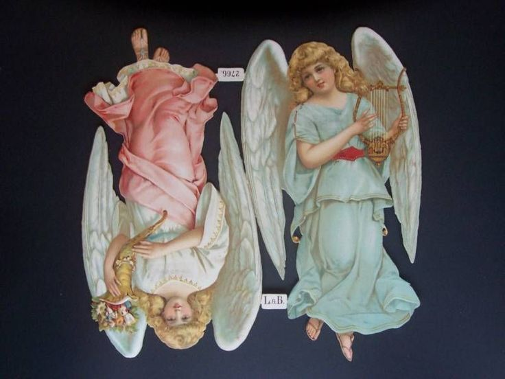 L&B Giant Sheet Angels 13   33cm Scrap Die cut Oblate