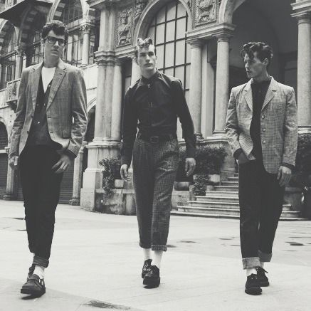 Teddy boys-- late 40's and 50's-- working class British adolescents who adopted styles in menswear that had a somewhat Edwardian flavor. More