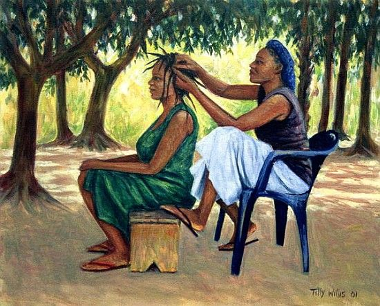 The Hairdresser 2001 Oil On Canvas Photo Print