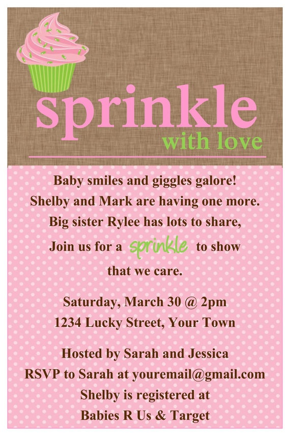 Sprinkle baby shower Cupcake Invitation Template 4x6 | Baby shower | Baby shower bunting, Baby shower invitations, Baby shower invitation templates