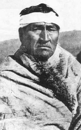 Huake, the last chief of the Aónikenk the southern most tribe of Tehuelches.