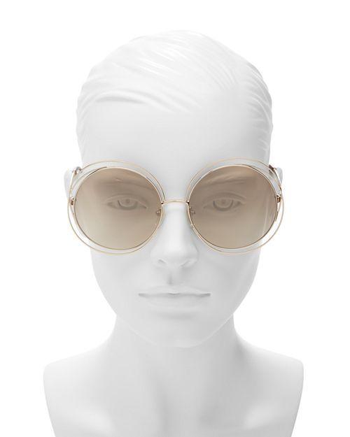 cc1fcd6e67a4 Chloé Women's Carlina Round Oversized Sunglasses, 62mm | Bloomingdale's