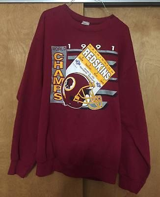 Vintage Trench 1991 Washington Redskins Super Bowl Sweater
