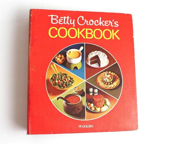 Vintage Betty Crocker Cookbook Pie Cover Spiral Hardcover Red Cooking Old