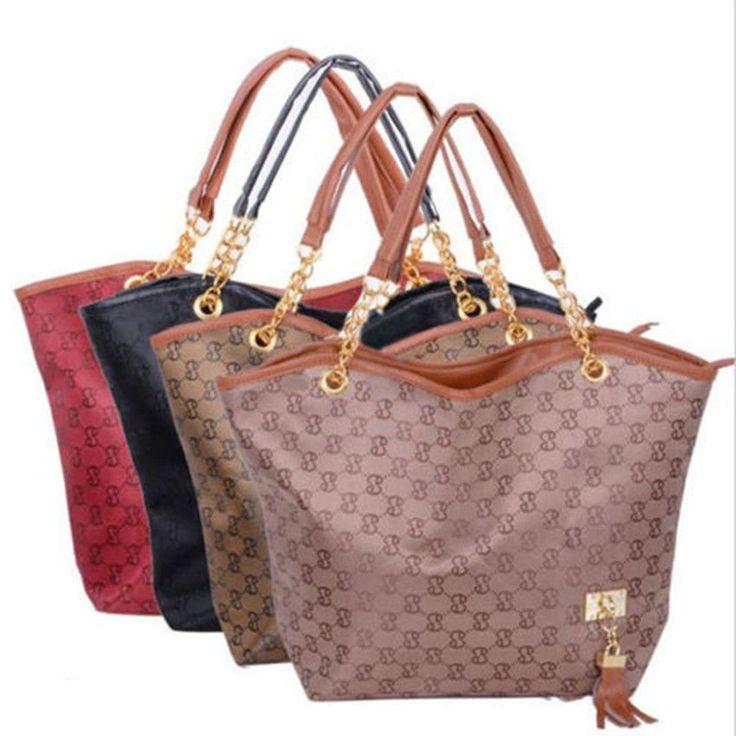 Womens Ladies Designer Leather Style Tote Bag Shoulder Handbag Shopper Large NEW
