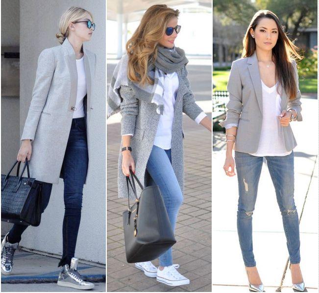 Para Inspirar - Branco, Jeans e Cinza!
