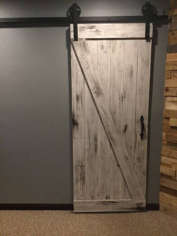 Z Brace Style Rustic Sliding Barn Door 82 X33 X1 5 Garage Door Design Barn Door Sliding Barn Door