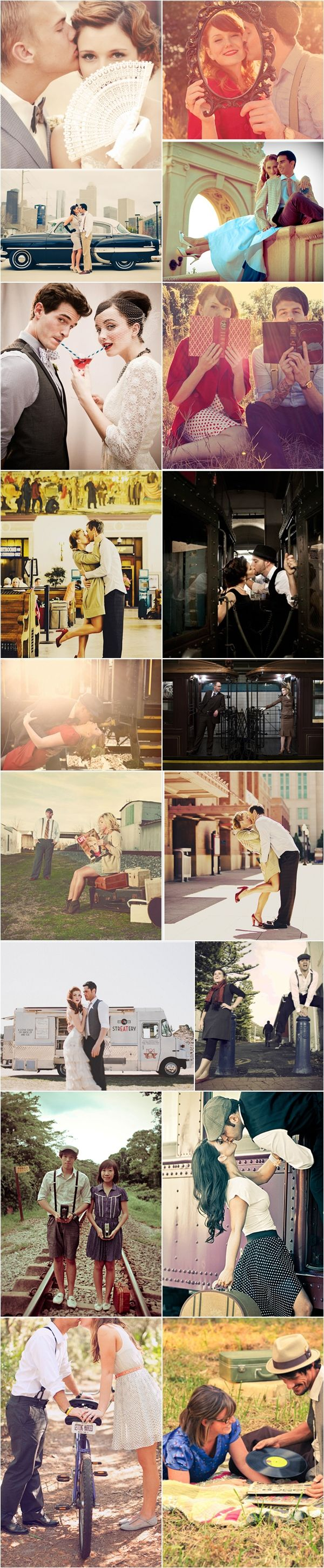 Praise Wedding » Wedding Inspiration and Planning » 46 Beautiful Vintage-Inspired Engagement Photos