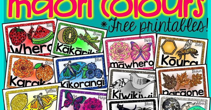 Mā is white,  Whero is red,  Kākāriki green..........   Such a Kiwi classic!      Click here to download your free Māori copy here!     Alo...