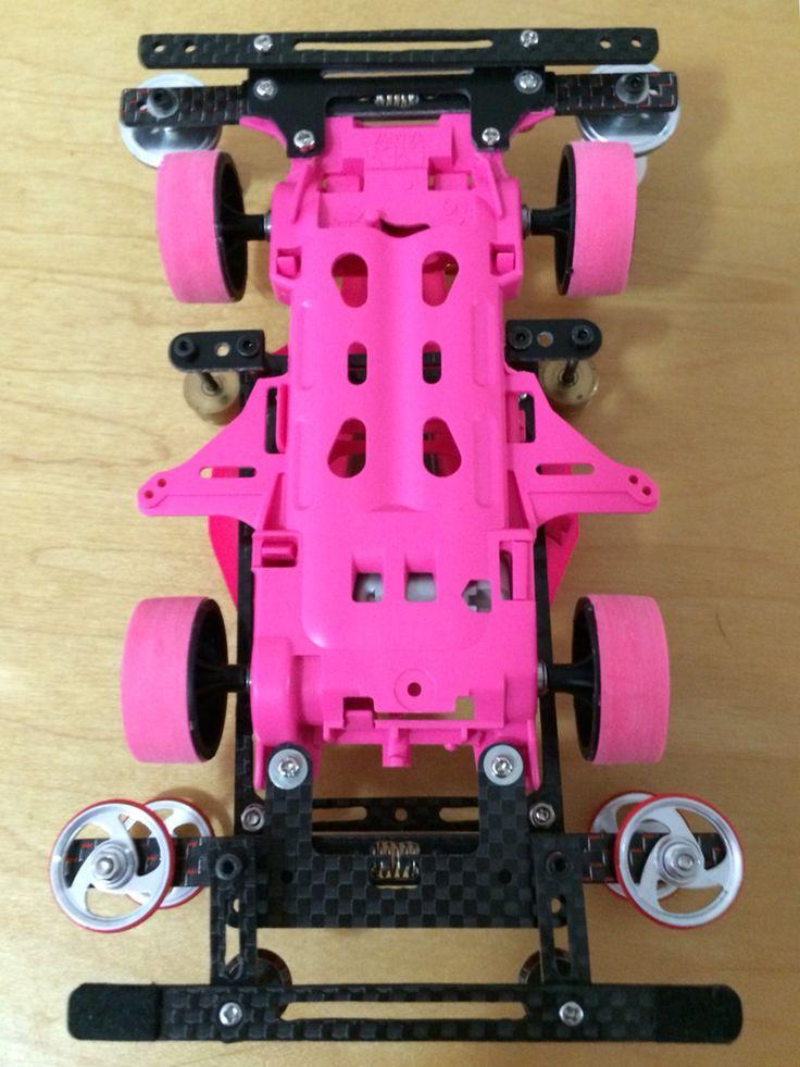 Tamiya mini 4wd avante mkii pink special with sliding damper