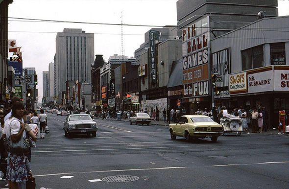 Yonge and Dundas -- 1980s  Looking north on Yonge