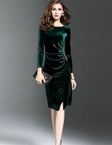24b0e77ac 14.39  Mulheres Tamanhos Grandes Para Noite Veludo Bainha Vestido ...