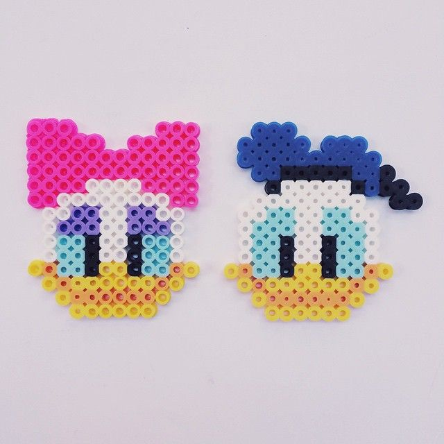 Daisy and Donald Duck perler beads by fromcheese