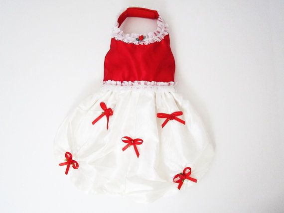 Valentine Red Dog Dressred dog dresses holiday dog by miascloset, $19.99