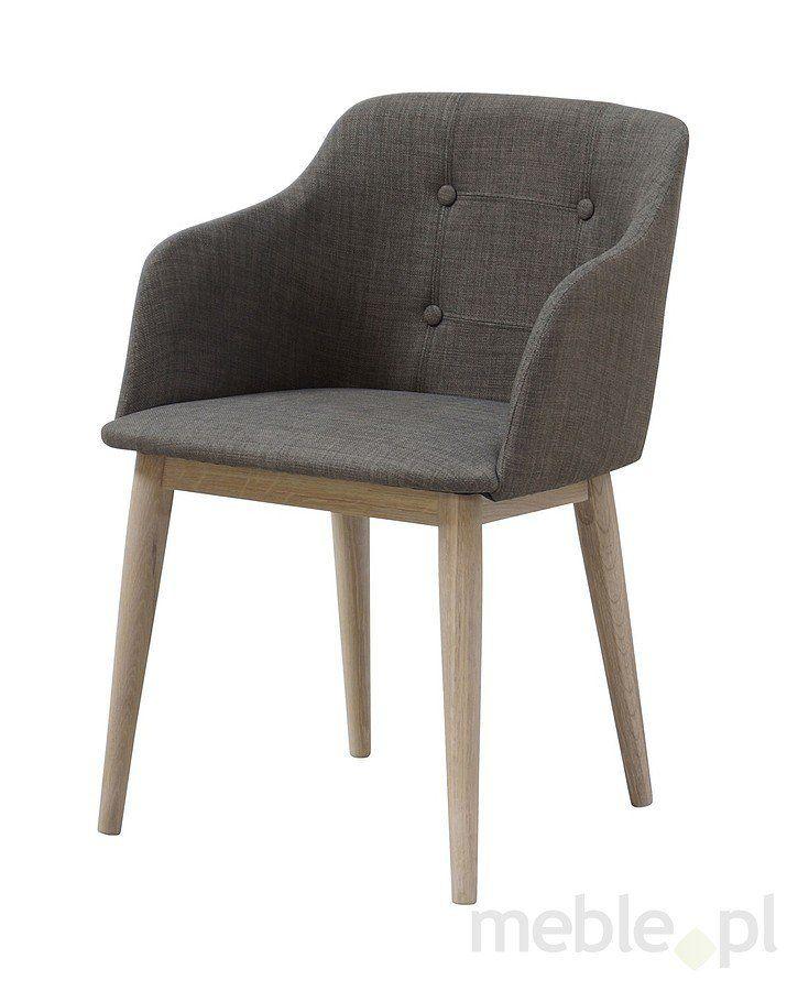 Krzesło CORPUS szare, tkanina RIO, drewno olejowane, 22114-4, Interstil - Meble