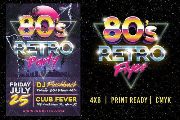 80's Retro Flyer by Lucion Creative on @creativemarket